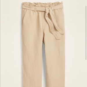 Old Navy size 4 petite linen paper bag pants